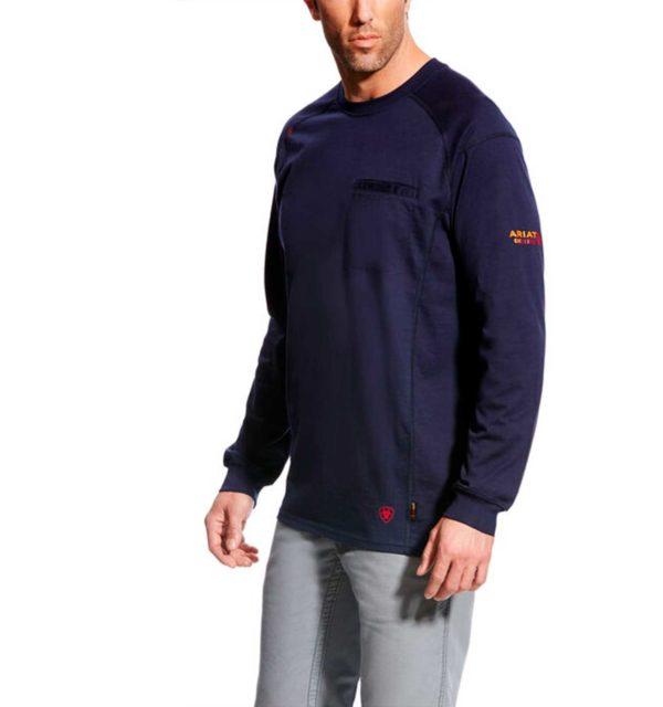 Ariat-FR-Air-Crew-T-shirt-Navy-Front