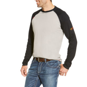 Ariat-FR-Baseball-T-Shirt-GREY-BLACK