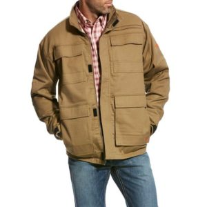 Ariat-FR-Canvas-Stretch-Jacket-Field-Khaki-Front