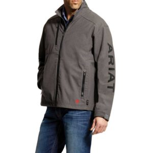 Ariat-FR-Team-Logo-Jacket-Gray-Front