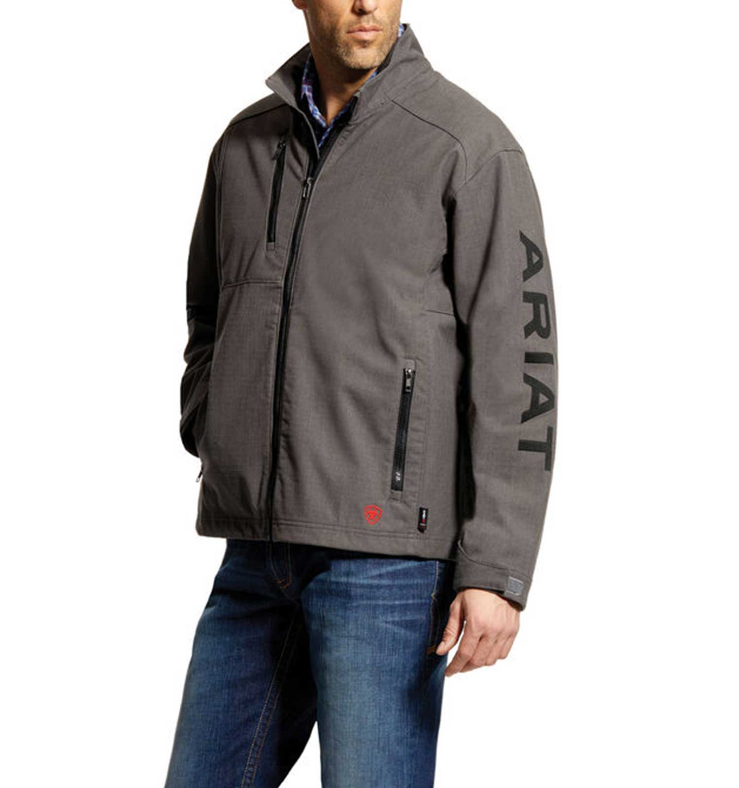 Ariat-FR-Team-Logo-Jacket-Gray-Front