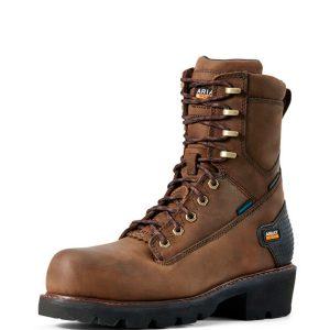 Ariat-Powerline-8-Waterproof-Work-Boot-Front