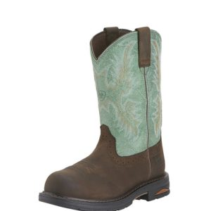 Ariat-Tracey-Waterproof-Composite-Toe-Work-Boot-Teal-Brown-Front