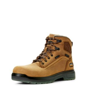 Ariat-Turbo-6″-Waterproof-Carbon-Toe-Work-Boot-Aged-Bark-Front