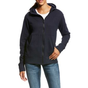 Ariat-Women's-FR-Durastretch-Full-Zip-Hoodie-Navy-Front