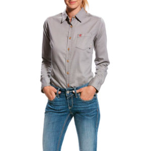 Ariat-Womens-FR-Basic-Work-Shirt-Front