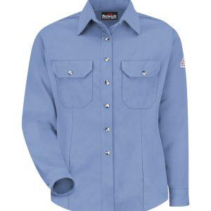 Bulwark-Cool-Touch-2-Womens-Dress-Uniform-Shirt-Light-Blue-SMU3LB