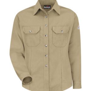 Bulwark-Cool-Touch-Womens-Dress-Uniform-Shirt-Khaki-SMU3KH