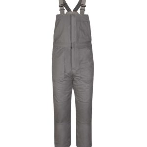Bulwark-EXCEL-FR®-ComforTouch®-Insulated-Bib-Overall-Gray-BLC8GY-Front
