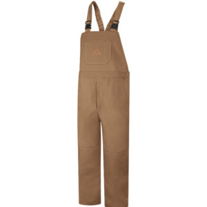 Bulwark-EXCEL-FR®-ComforTouch®-Unlined-Bib-Overall-Brown-Duck-BLF8BD-BROWN-FRONT