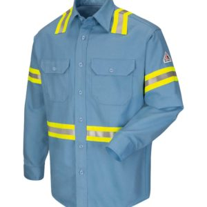 Bulwark-Enhanced-Vis-Uniform-Shirt--SLDT-Light-Blue-Front