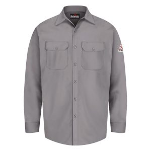 Bulwark-FR-Button-Front-Work-Shirt--SEW2-gray