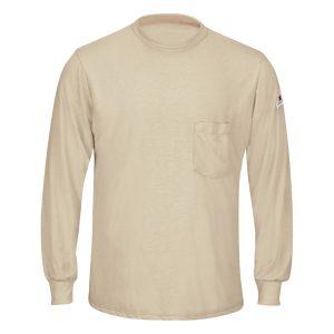 Bulwark-FR-Lightweight-Long-Sleeve-T-Shirt--SMT8-khaki