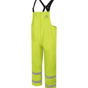 Bulwark-Flame-Resistant-Hi-Vis-Rainwear-Bib-Overall-BXN6YE-Front