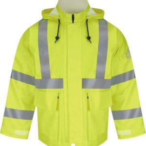 Bulwark-Flame-Resistant-Hi-Vis-Rainwear-Jacket-JXN6YE-Front