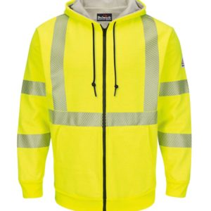 Bulwark-Hi-Vis-10oz-Zip-Front-Fleece-with-Hood--SMZ4HV-Back