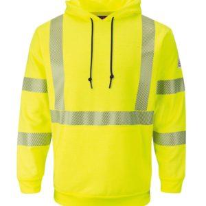 Bulwark-Hi-Vis-Pullover-Hooded-Fleece-Sweatshirt-SMH4HV-Front