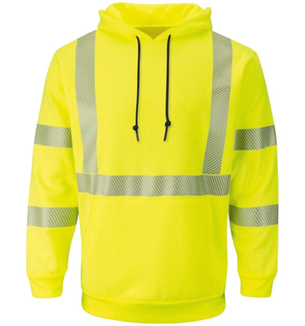 Bulwark-Modacryllic-Pullover-Hooded-Fleece-Sweatshirt-Hi-Vis-SMH4HV