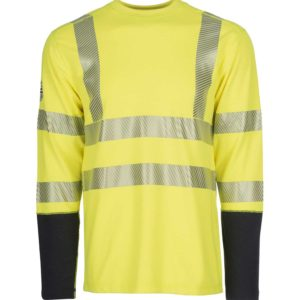 DragonWear-Pro-Dry™-Long-Sleeve-Hi-Vis-Yellow-Shirt-Front