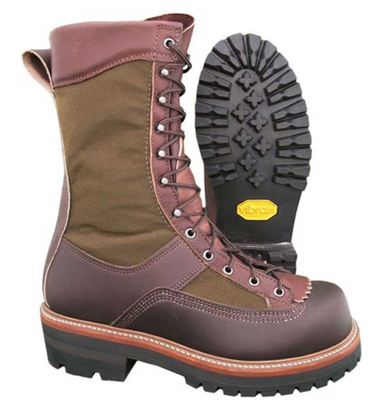 Hoffman-10″-All-Leather-Powerline-Insulated-Plain-Toe-Brown-Front