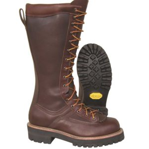 Hoffman-16″-All-Leather-Powerline--Plain-Toe-Brown-Front