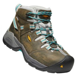 Women's-Keen-Detroit-Teal-Tan-Front